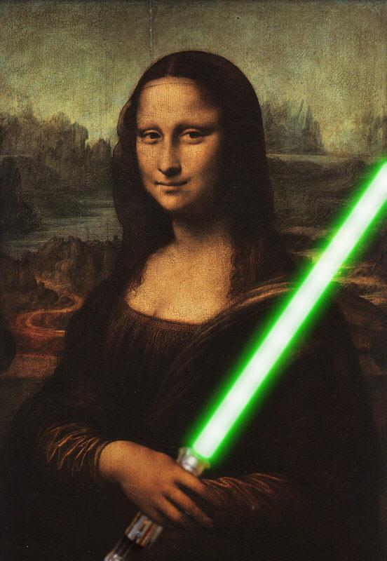 mona lisa lightsaber green