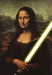 mona lisa lightsaber yellow