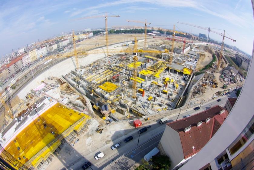 Baustelle Wien Hbf