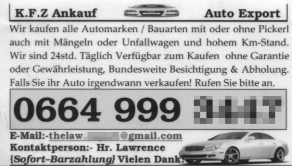 wolle auto verkaufe