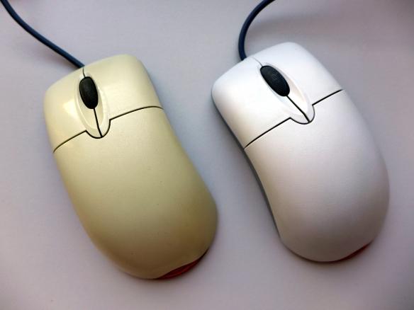 gebleichte Maus