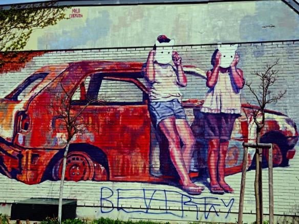 Graffiti-Burggasse