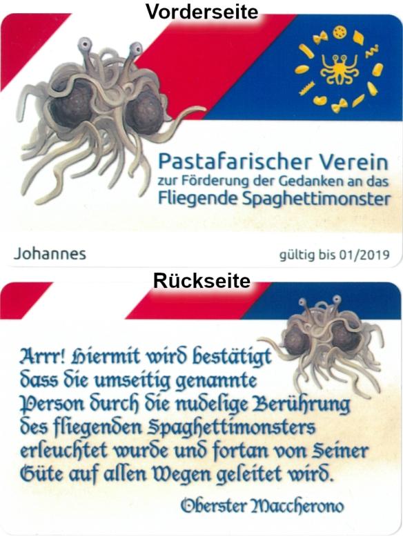 Pastafari-Ausweis